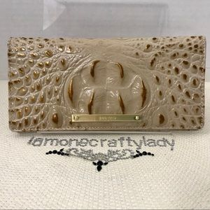 Brahmin Ady Wallet CHAMPAGNE MELBOURNE Leather NEW